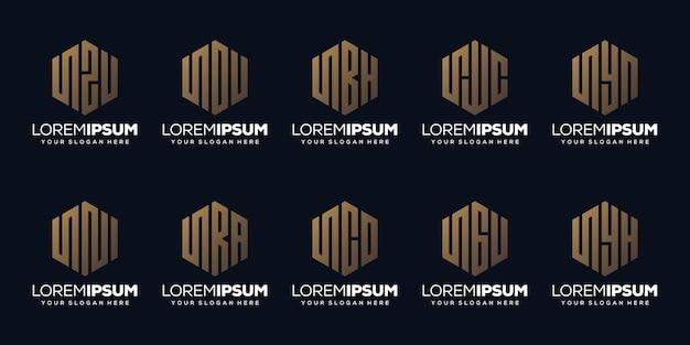 Définir la conception de logo moderne lettre m