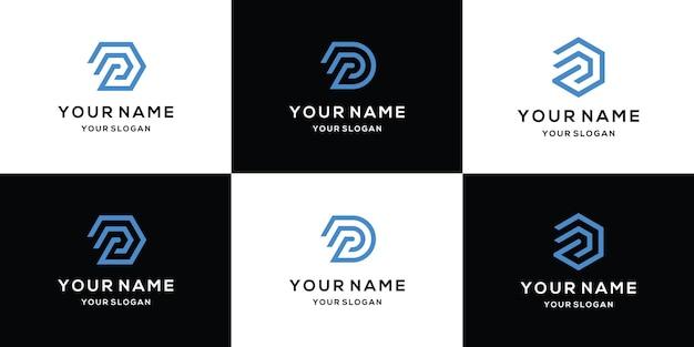 Définir la conception de logo moderne lettre d