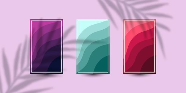 Définir la conception de modèle d'illustration de fond de couverture de vague abstraite