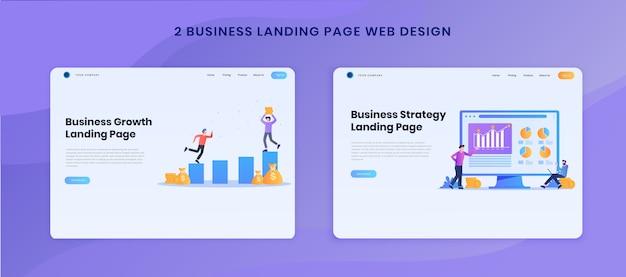 Définir la conception de sites web de page de destination de stratégie commerciale