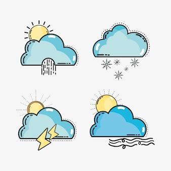 Définir les conditions météorologiques et la température naturelle