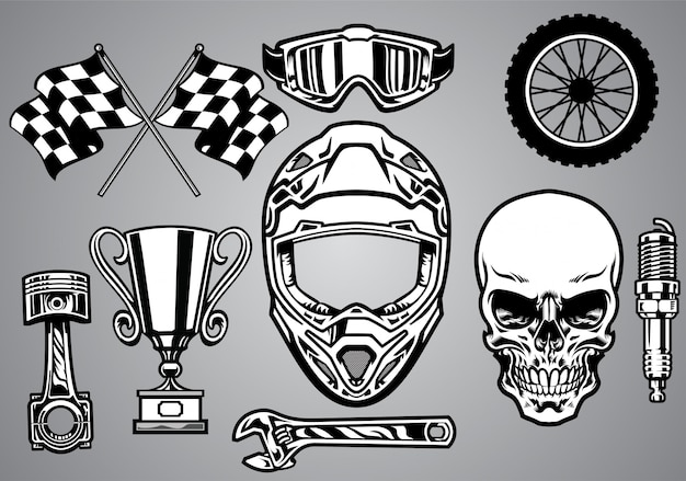 Définir la course de motocross avec le crâne