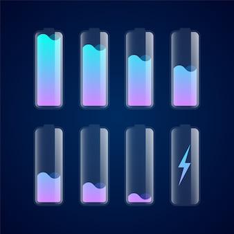 Définir différents niveaux d'icônes de charge de la batterie