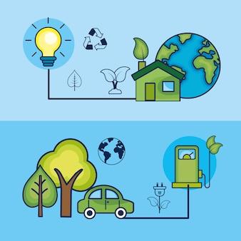 Définir l'écologie sur les soins de l'environnement naturel