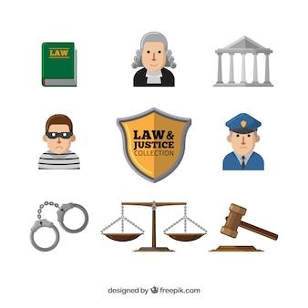 Définir des éléments de derecho et justicia