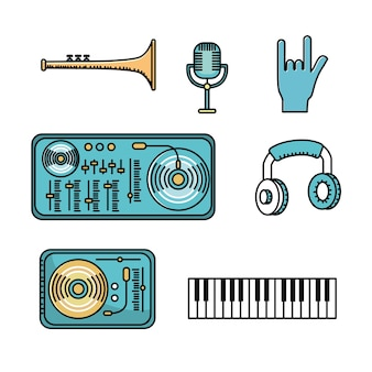Définir des éléments pour écouter et jouer de la musique