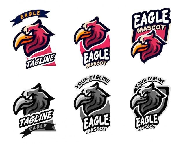 Définir l'équipe e-sport logo eagle