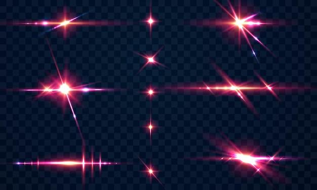 Définir des étincelles effet de lumière spéciale paillettes glowing.
