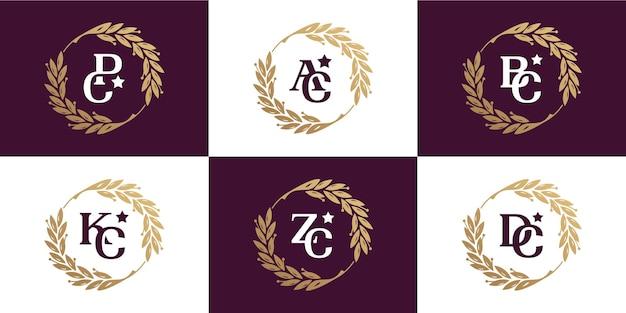 Définir la feuille de cercle de cadre et le logo initial à l'intérieur