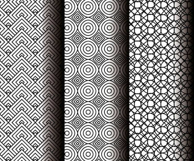 Définir des figures géométriques dans des motifs sans soudure gris