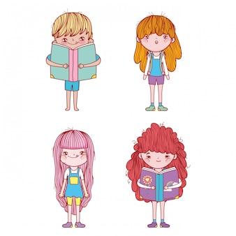 Définir les filles et les garçons à la fête du livre