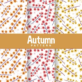 Définir le fond du modèle sans couture d'automne chute fleur