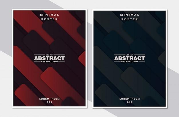 Définir le fond de la forme abstraite de la couverture papier