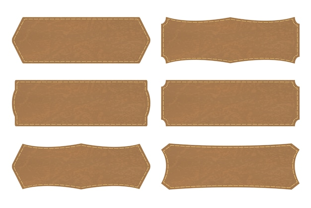 Définir des formes d'étiquettes en cuir ou une étiquette en cuir