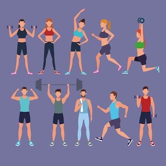 Définir des gens qui font de l'exercice