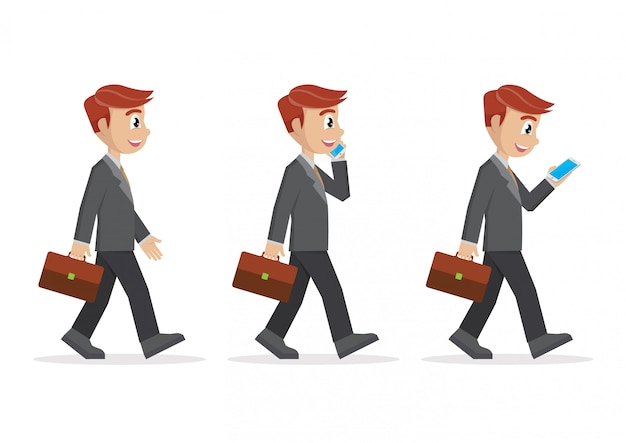 Définir l'homme d'affaires à pied.