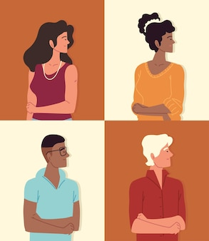 Définir les hommes, les femmes, les jeunes