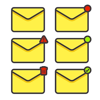 Définir l'icône de l'enveloppe du message électronique dans n'importe quelle condition