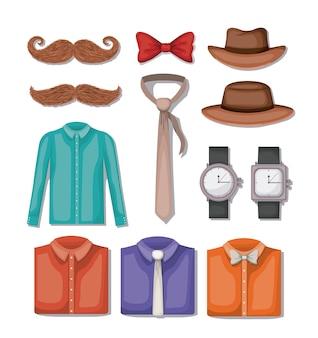 Définir des icônes d'accessoires masculins