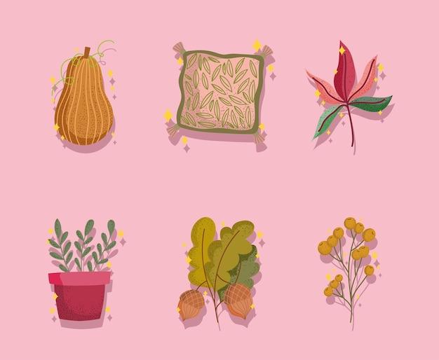 Définir des icônes d'automne