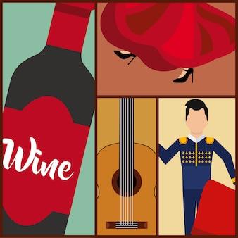 Définir des icônes classiques de la culture espagnole