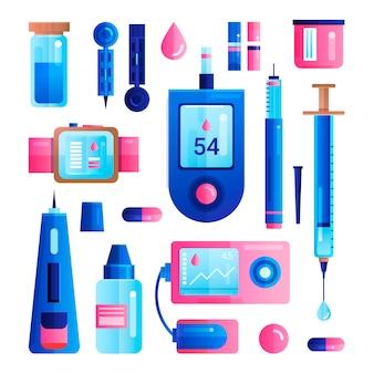 Définir des icônes diabétiques