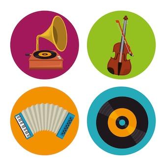 Définir des icônes d'instruments de musique