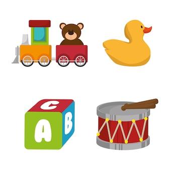 Définir les icônes de jouets enfants