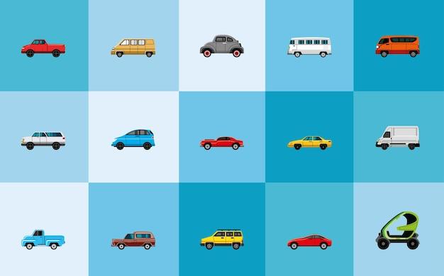 Définir des icônes de transport