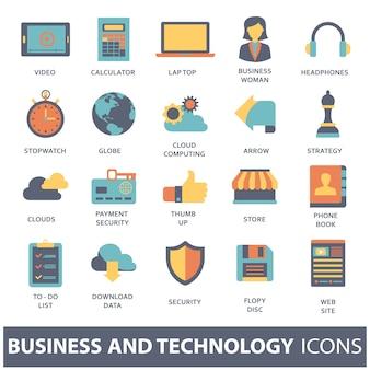 Définir des icônes vectorielles pour les concepts mobiles et les applications web
