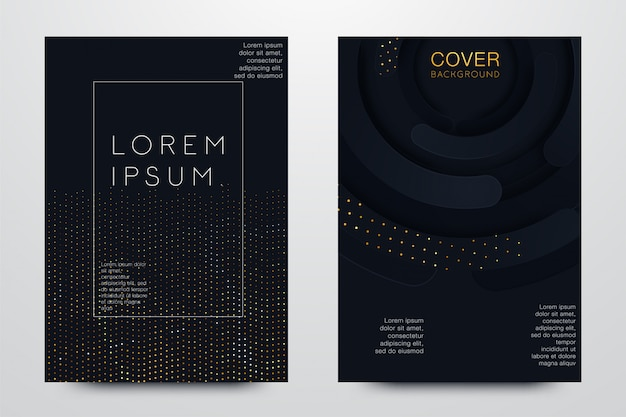Définir illustration de la couverture noir