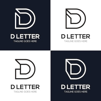 Définir l'illustration du logo de la lettre initiale de luxe d pour votre entreprise