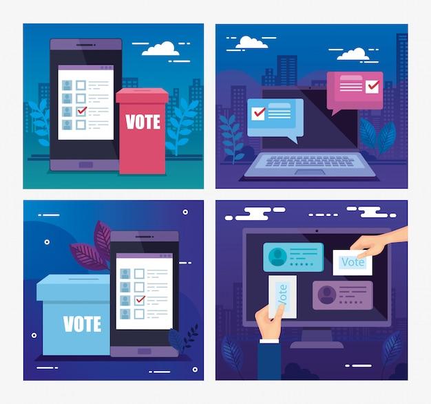 Définir l'illustration du vote