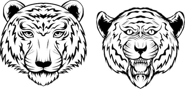 Définir l'illustration de la tête de tigre