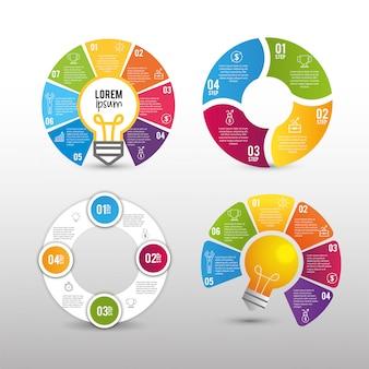 Définir les informations du rapport d'activité infographique