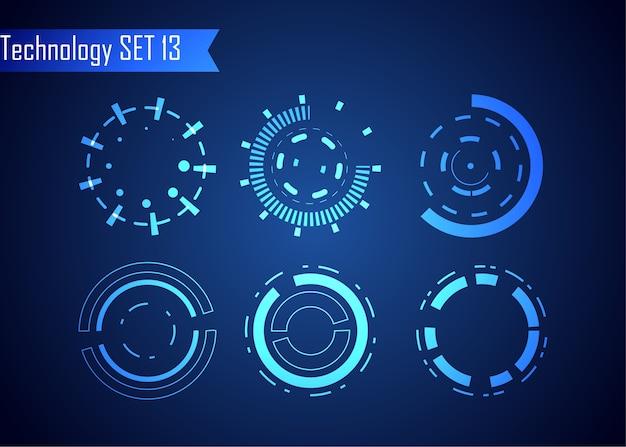 Définir l'interface utilisateur futuriste hud