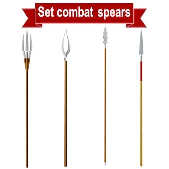 Définir des lances de combat