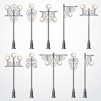 Définir des lanternes de rue pour la conception de la ville