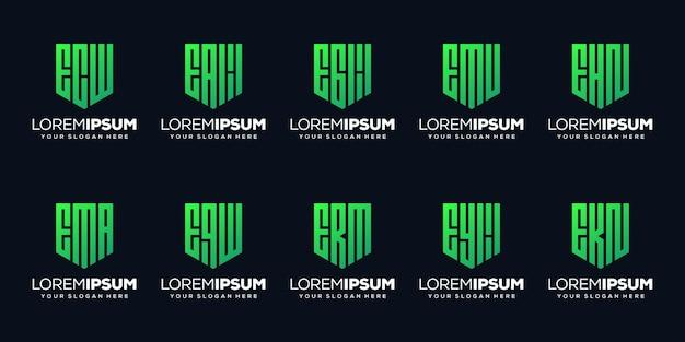 Définir une lettre moderne une création de logo