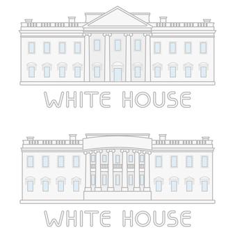 Définir la ligne de construction de maison blanche américaine