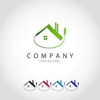 Définir le logo monoline de propriété de luxe de collection