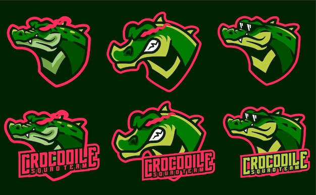 Définir les mascottes de crocodile