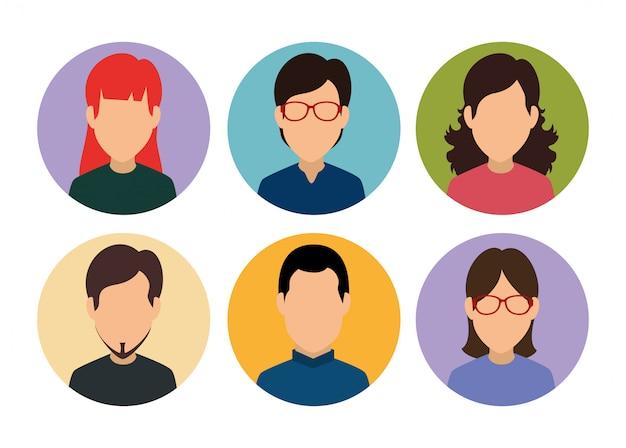 Définir un membre du profil de média de personnes