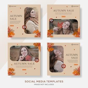 Définir le modèle de bannières pour le poste de vente d'automne.