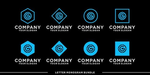 Définir le modèle de conception de logo monogramme g