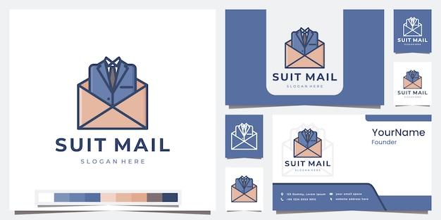 Définir le modèle de courrier de costume logo