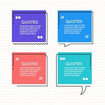 Définir le modèle de fond de citations.