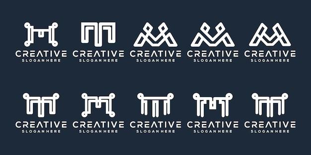 Définir le modèle de logo lettre m