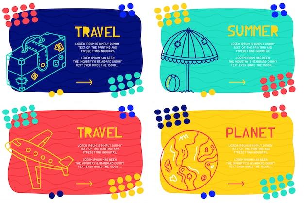 Définir le modèle de page de destination abstraite avec différents éléments