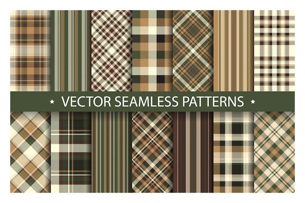 Définir le modèle sans couture plaid. texture de tissu motifs tartan.